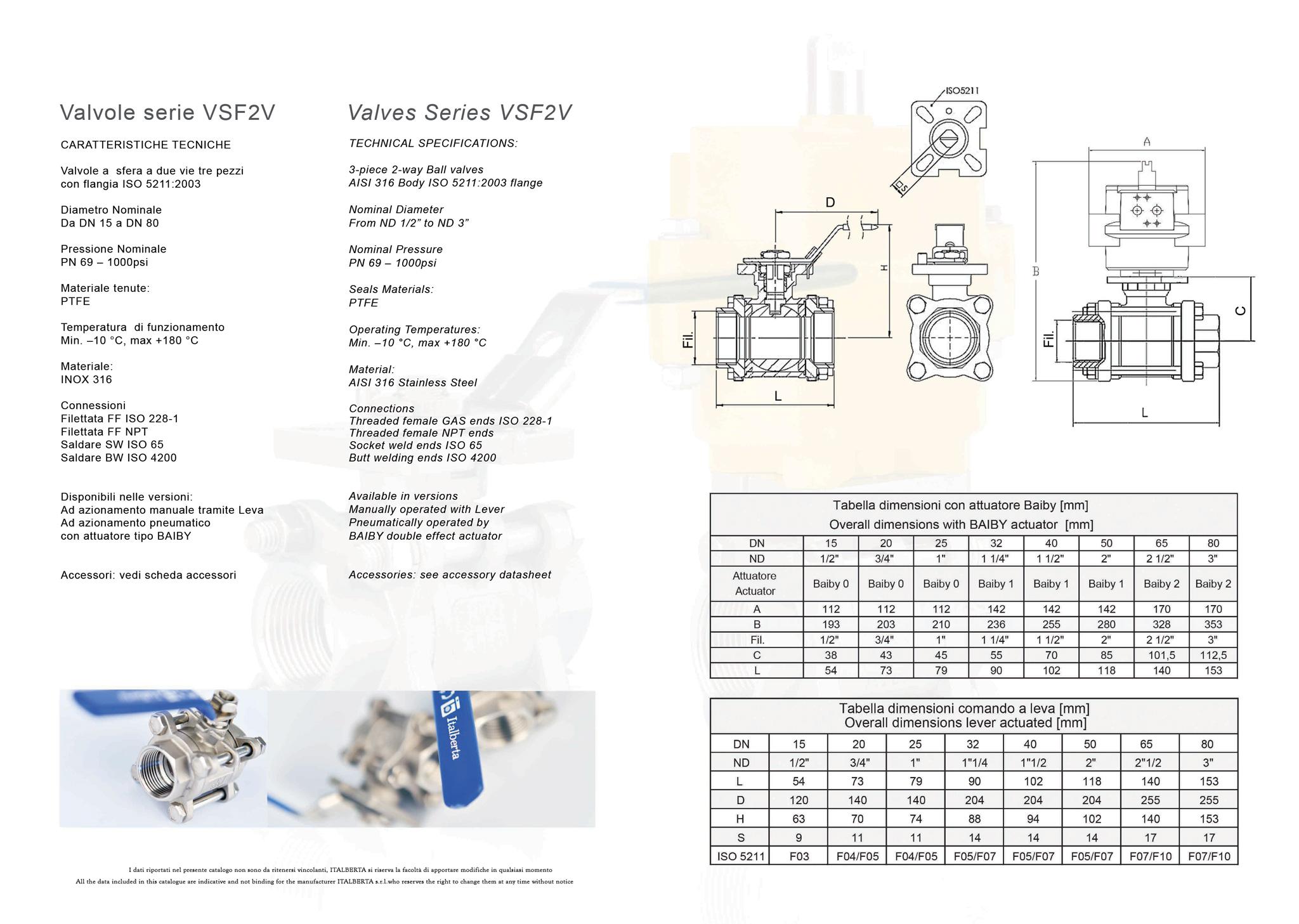 ITALBERTA VSF2V TDS