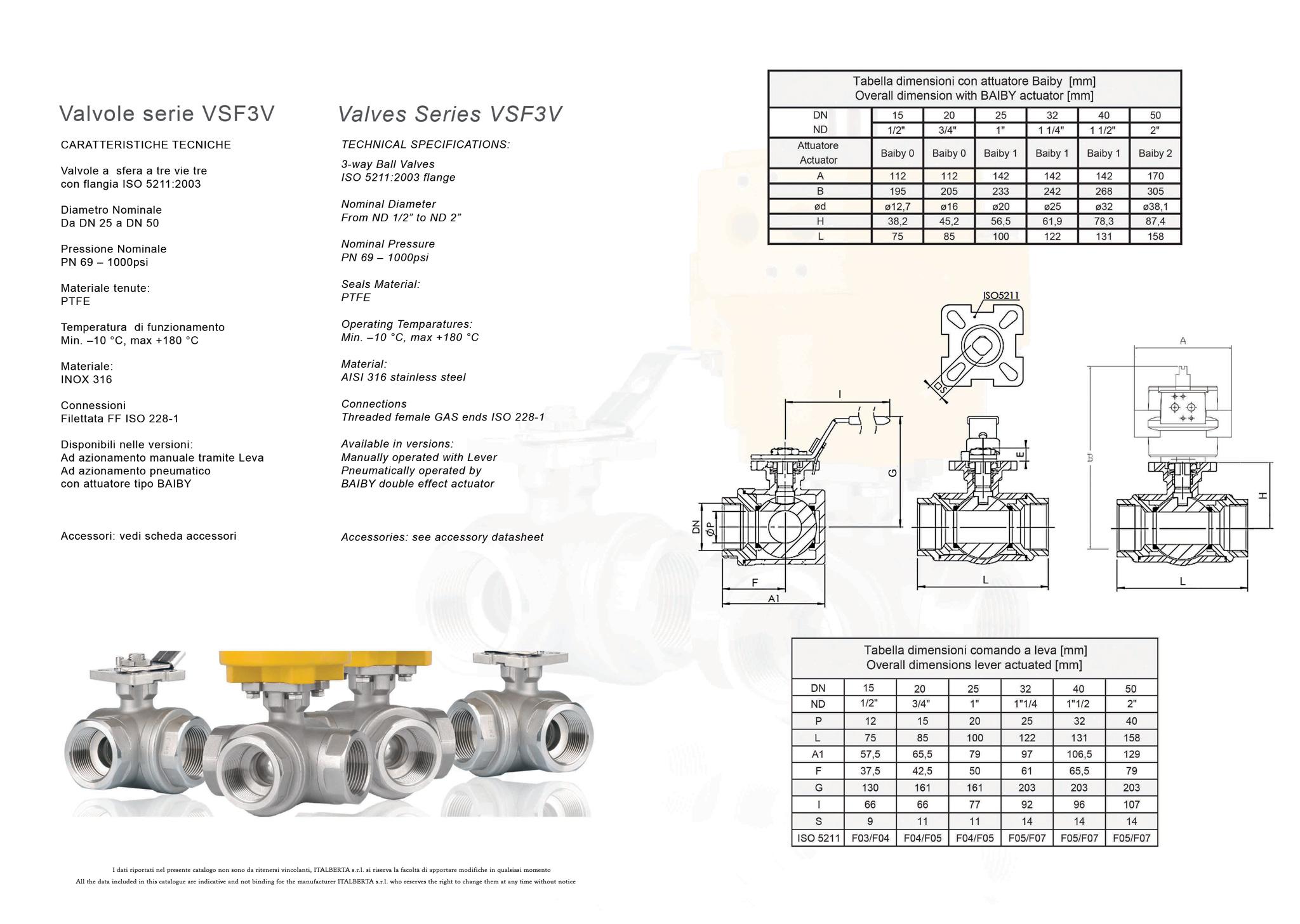 ITALBERTA VSF3V TDS